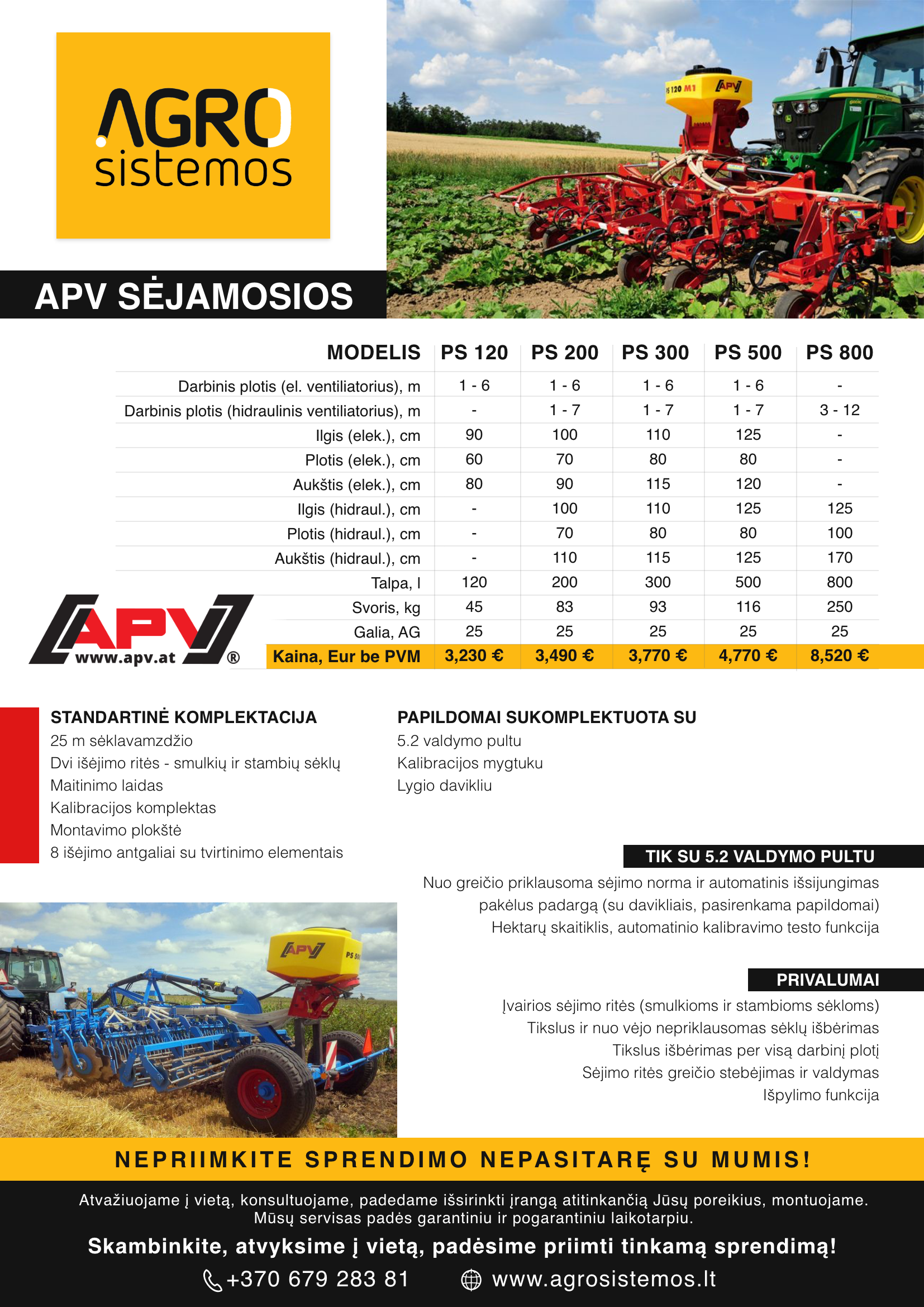 APV sėjamosios