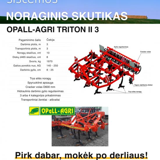 OPALL-AGRI noraginis skutikas
